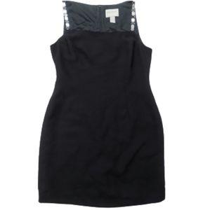 Hugo Buscati Square Neck Black Sheath Dress Sz 12
